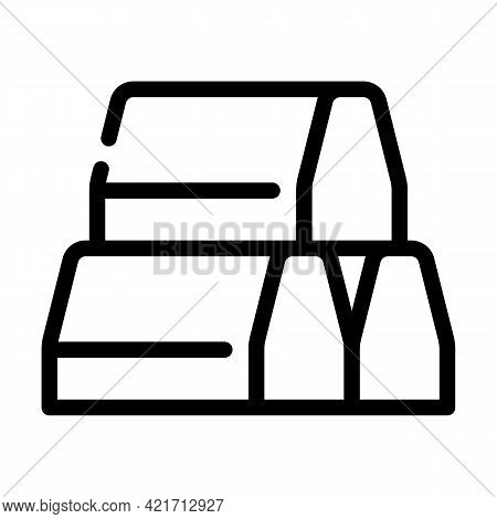 Curbs Building Material Line Icon Vector. Curbs Building Material Sign. Isolated Contour Symbol Blac