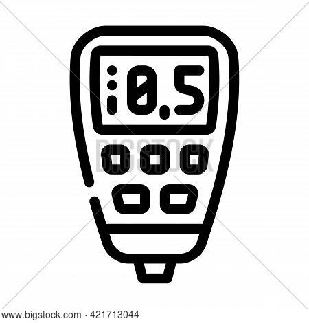 Thickness Gauge Device Line Icon Vector. Thickness Gauge Device Sign. Isolated Contour Symbol Black