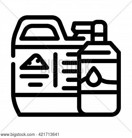 Odor Neutralizer Compost Line Icon Vector. Odor Neutralizer Compost Sign. Isolated Contour Symbol Bl