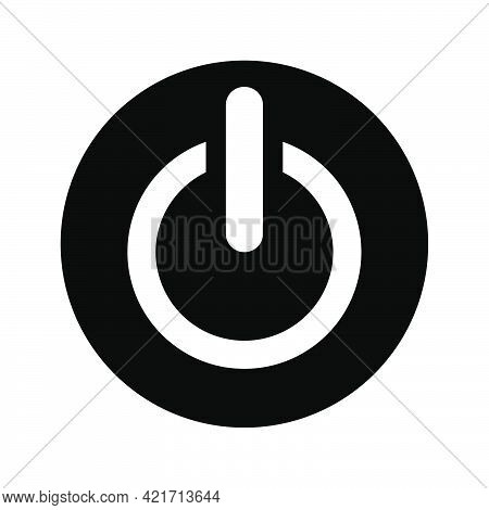 Simple Illustration Of Switch Turn On Or Turn Off Personal Computer Component Icon. Flat Style