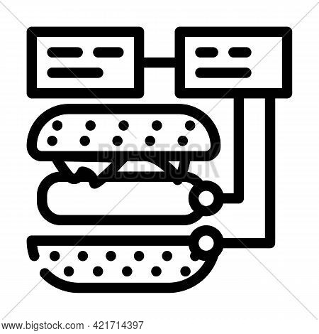 Ingredients For Cooking Line Icon Vector. Ingredients For Cooking Sign. Isolated Contour Symbol Blac