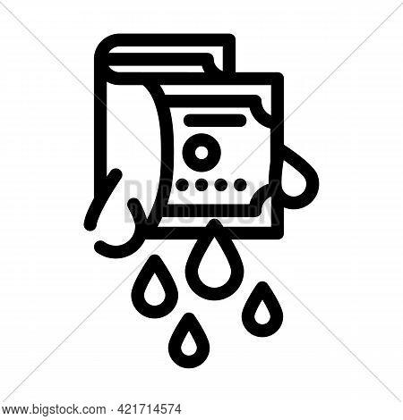 Money Laundering Line Icon Vector. Money Laundering Sign. Isolated Contour Symbol Black Illustration