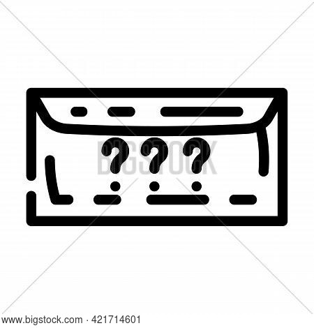 Envelope With Purchase Line Icon Vector. Envelope With Purchase Sign. Isolated Contour Symbol Black