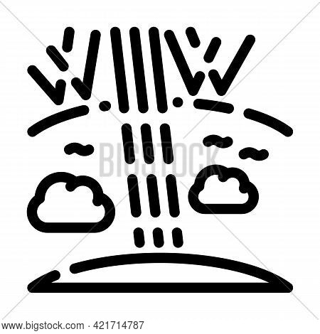 Ozone Holes Disaster Line Icon Vector. Ozone Holes Disaster Sign. Isolated Contour Symbol Black Illu