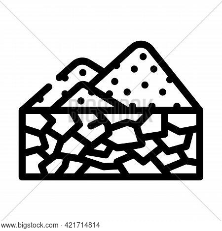 Drought Disaster Line Icon Vector. Drought Disaster Sign. Isolated Contour Symbol Black Illustration