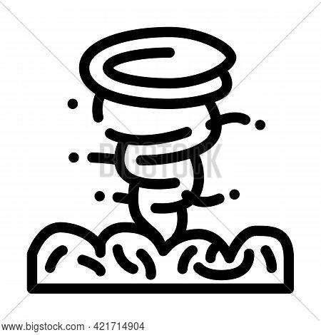 Hurricane Disaster Line Icon Vector. Hurricane Disaster Sign. Isolated Contour Symbol Black Illustra
