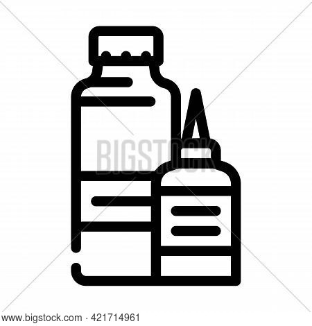Gel For Better Conduction Stimulator Line Icon Vector. Gel For Better Conduction Stimulator Sign. Is