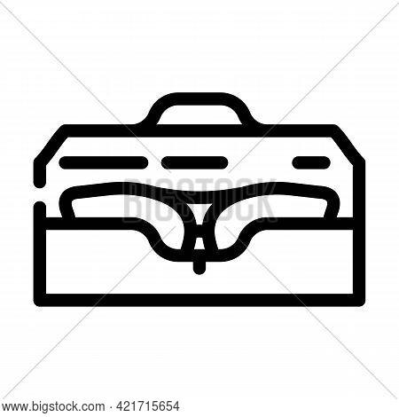 Case For Glasses Line Icon Vector. Case For Glasses Sign. Isolated Contour Symbol Black Illustration