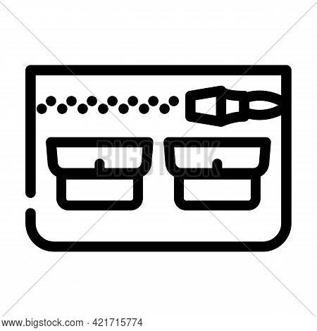 Universal Pocket Line Icon Vector. Universal Pocket Sign. Isolated Contour Symbol Black Illustration