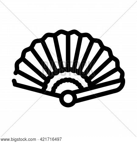 Fan Spain Line Icon Vector. Fan Spain Sign. Isolated Contour Symbol Black Illustration