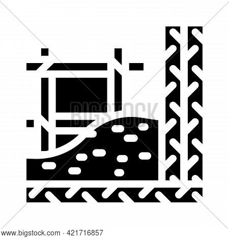 Armature Building Material Glyph Icon Vector. Armature Building Material Sign. Isolated Contour Symb
