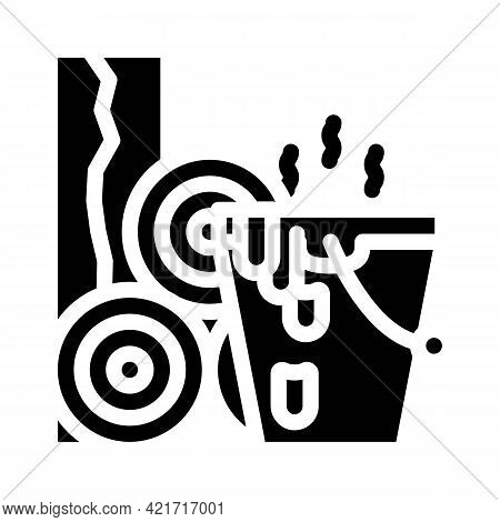 Bitumen Building Material Glyph Icon Vector. Bitumen Building Material Sign. Isolated Contour Symbol
