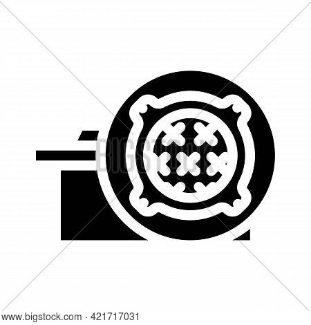 Concrete Products, Sewer Hatches Building Material Glyph Icon Vector. Concrete Products, Sewer Hatch