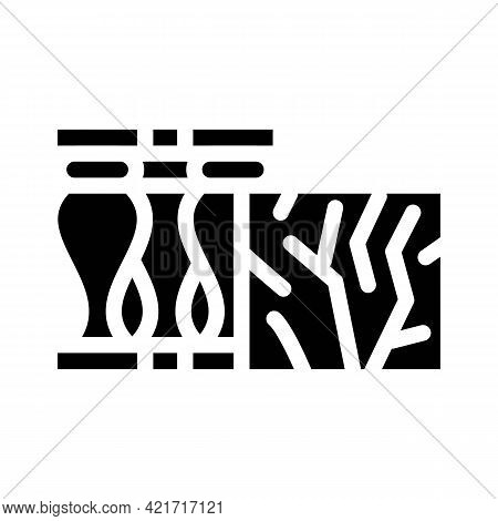 Marble Building Material Glyph Icon Vector. Marble Building Material Sign. Isolated Contour Symbol B