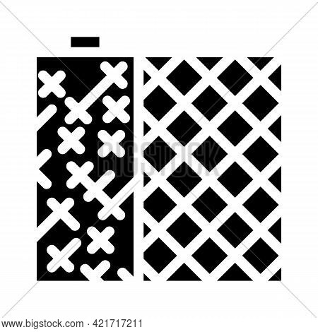 Grid Building Material Glyph Icon Vector. Grid Building Material Sign. Isolated Contour Symbol Black