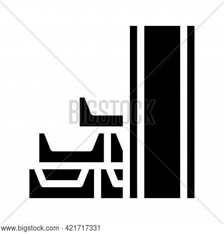 Draining System Building Material Glyph Icon Vector. Draining System Building Material Sign. Isolate