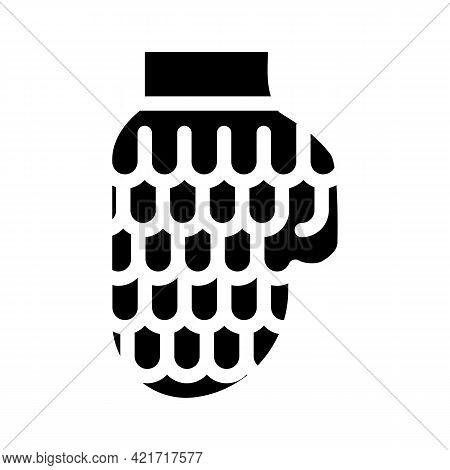 Glove For Car Polishing Glyph Icon Vector. Glove For Car Polishing Sign. Isolated Contour Symbol Bla