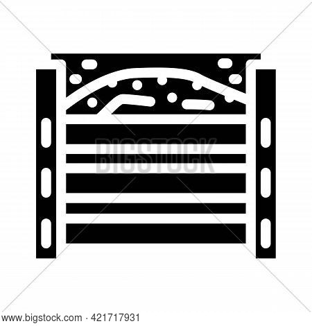 Homemade Composter Glyph Icon Vector. Homemade Composter Sign. Isolated Contour Symbol Black Illustr