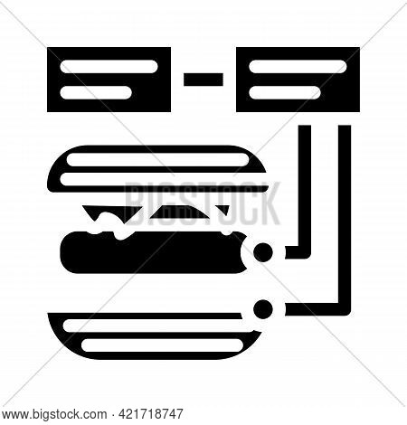 Ingredients For Cooking Glyph Icon Vector. Ingredients For Cooking Sign. Isolated Contour Symbol Bla