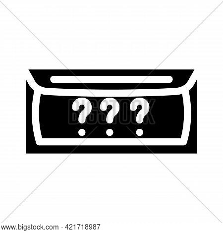 Envelope With Purchase Glyph Icon Vector. Envelope With Purchase Sign. Isolated Contour Symbol Black