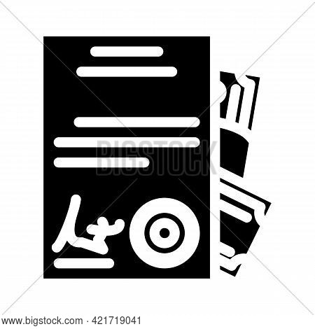 Purchase Of Documents Glyph Icon Vector. Purchase Of Documents Sign. Isolated Contour Symbol Black I
