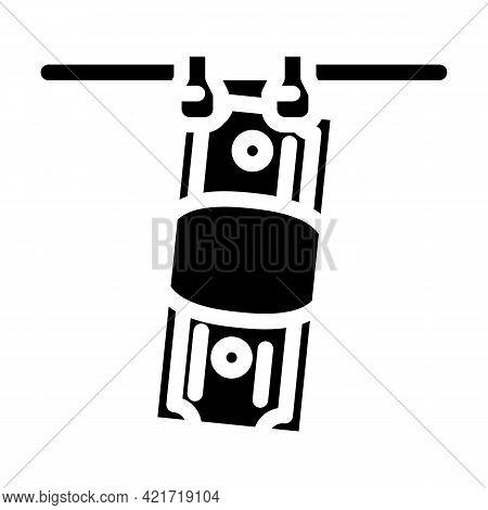 Money Laundered Glyph Icon Vector. Money Laundered Sign. Isolated Contour Symbol Black Illustration
