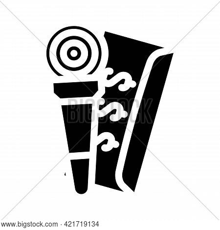 Purchase Of Journalist Glyph Icon Vector. Purchase Of Journalist Sign. Isolated Contour Symbol Black