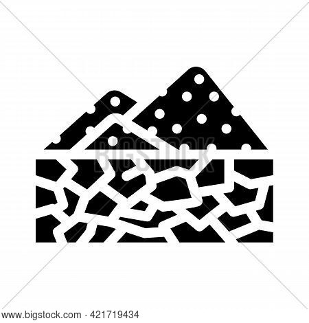 Drought Disaster Glyph Icon Vector. Drought Disaster Sign. Isolated Contour Symbol Black Illustratio