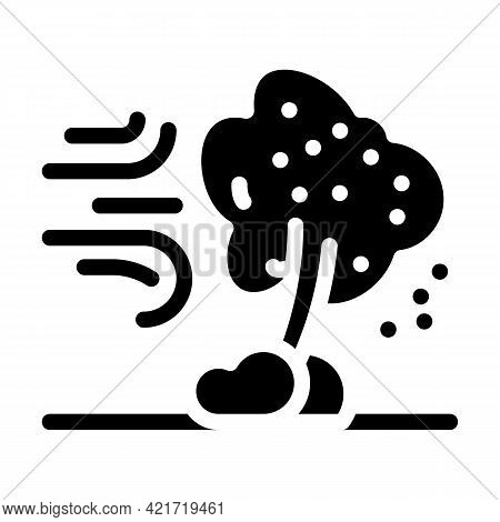 Wind Disaster Glyph Icon Vector. Wind Disaster Sign. Isolated Contour Symbol Black Illustration