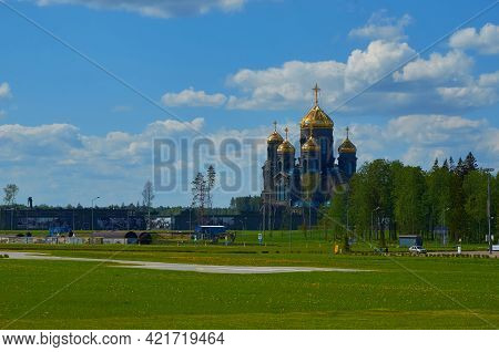 Patriot Park, Moscow Region, Russia, May 22, 2021. Patriarchal Cathedral Of The Resurrection Of Chri