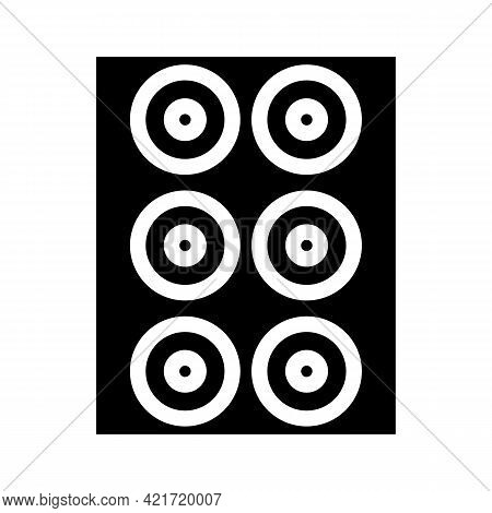 Lenses Set Of Different Colors Glyph Icon Vector. Lenses Set Of Different Colors Sign. Isolated Cont