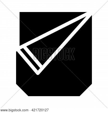 Ripped Pocket Glyph Icon Vector. Ripped Pocket Sign. Isolated Contour Symbol Black Illustration
