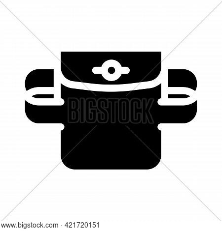 Elastic Pocket Glyph Icon Vector. Elastic Pocket Sign. Isolated Contour Symbol Black Illustration