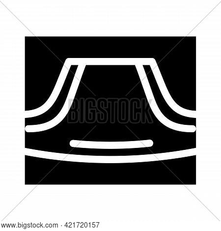 Hoodie Pocket Glyph Icon Vector. Hoodie Pocket Sign. Isolated Contour Symbol Black Illustration