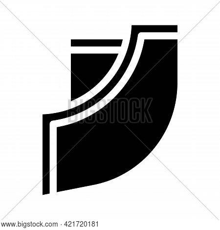 Trouser Pocket Glyph Icon Vector. Trouser Pocket Sign. Isolated Contour Symbol Black Illustration