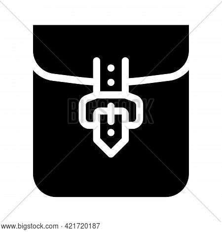 Clasp Pocket Glyph Icon Vector. Clasp Pocket Sign. Isolated Contour Symbol Black Illustration
