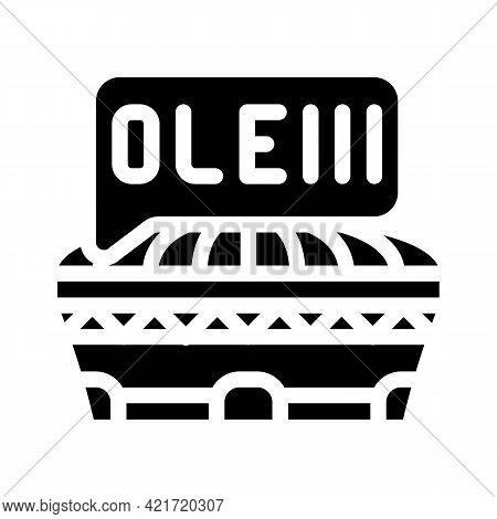 Gazpacho Spain Dish Glyph Icon Vector. Gazpacho Spain Dish Sign. Isolated Contour Symbol Black Illus