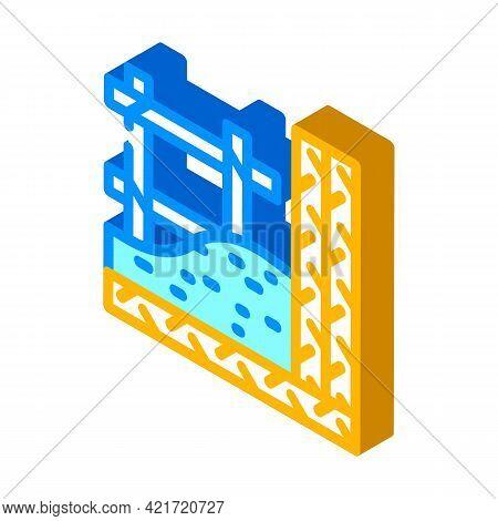 Armature Building Material Isometric Icon Vector. Armature Building Material Sign. Isolated Symbol I
