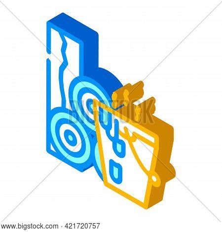 Bitumen Building Material Isometric Icon Vector. Bitumen Building Material Sign. Isolated Symbol Ill
