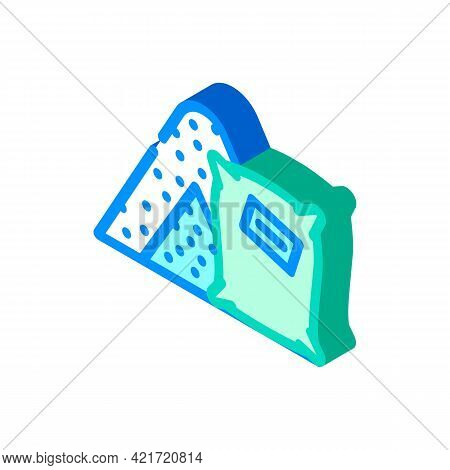 Concrete Building Material Isometric Icon Vector. Concrete Building Material Sign. Isolated Symbol I