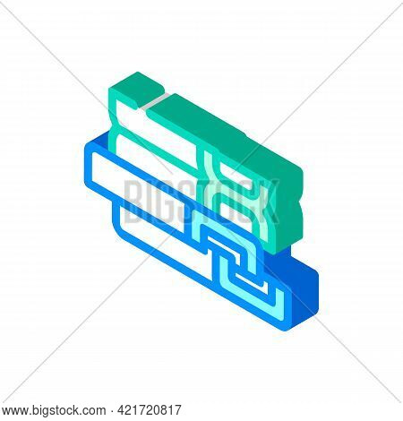 Support Structures, Beams And Channels Building Material Isometric Icon Vector. Support Structures,