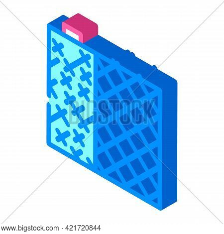 Grid Building Material Isometric Icon Vector. Grid Building Material Sign. Isolated Symbol Illustrat