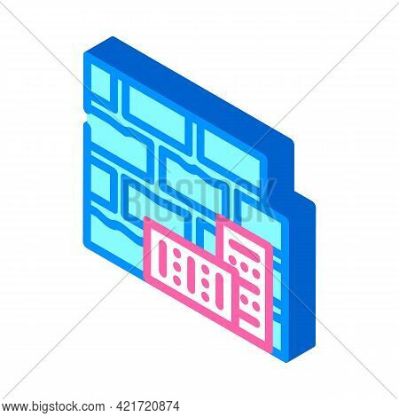 Brick Building Material Isometric Icon Vector. Brick Building Material Sign. Isolated Symbol Illustr