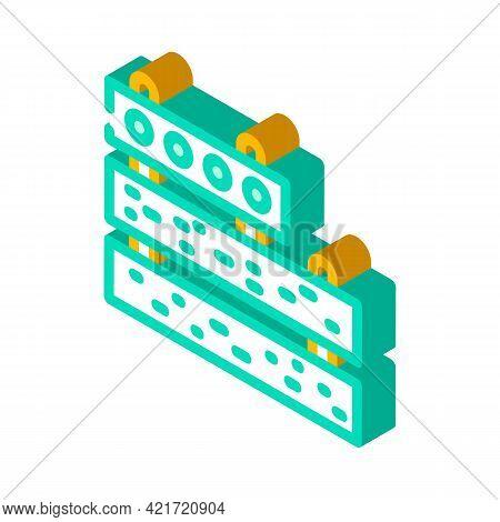 Concrete Plates Building Material Isometric Icon Vector. Concrete Plates Building Material Sign. Iso