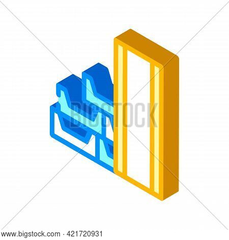 Draining System Building Material Isometric Icon Vector. Draining System Building Material Sign. Iso