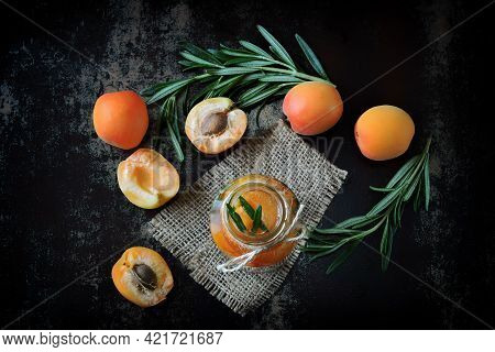 Healthy Detox Drink With Apricot And Rosemary. Detox Diet. Keto Diet.