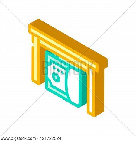 Give Bribe Isometric Icon Vector. Give Bribe Sign. Isolated Symbol Illustration