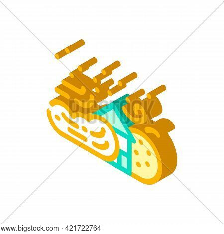 Sandstorm Disaster Isometric Icon Vector. Sandstorm Disaster Sign. Isolated Symbol Illustration