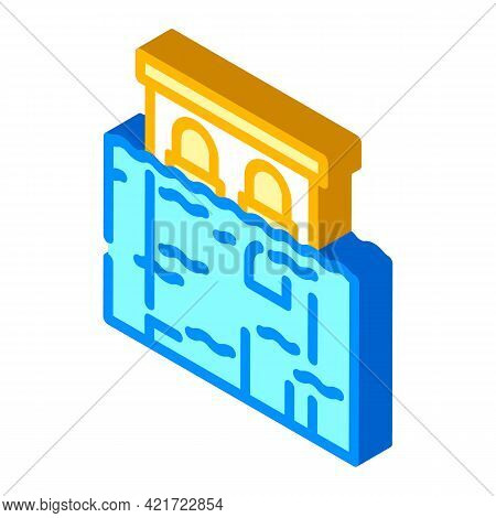 Flood Disaster Isometric Icon Vector. Flood Disaster Sign. Isolated Symbol Illustration