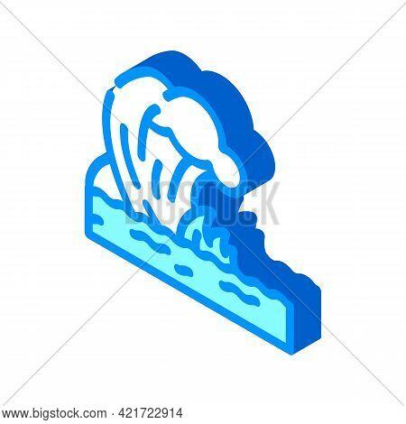 Tsunami Disaster Isometric Icon Vector. Tsunami Disaster Sign. Isolated Symbol Illustration